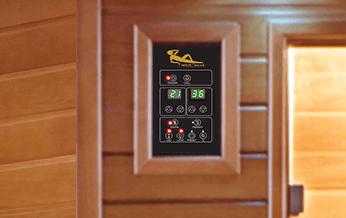 sauna aquaflo luxe panneau-controle