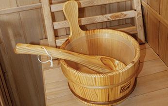 sauna aquaflo seau