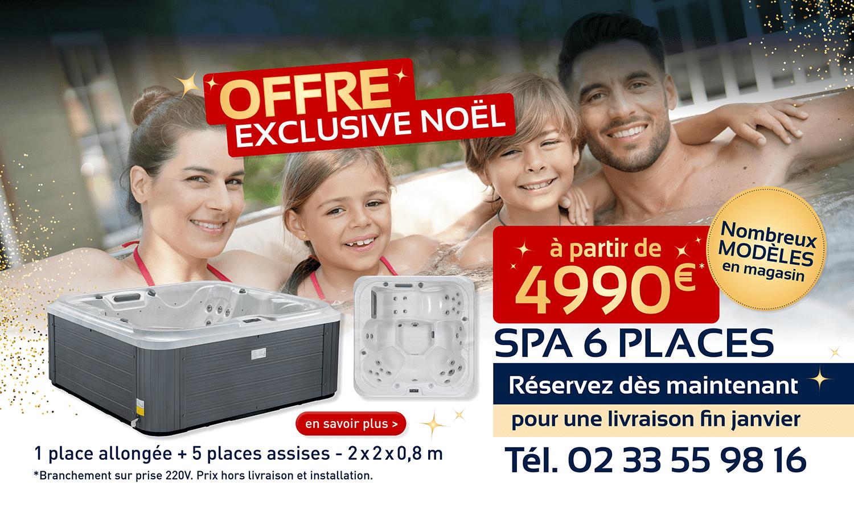 Aquaflo bannières reconfinement + promo spa 6 places