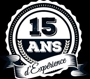 Badge expérience de 15ans