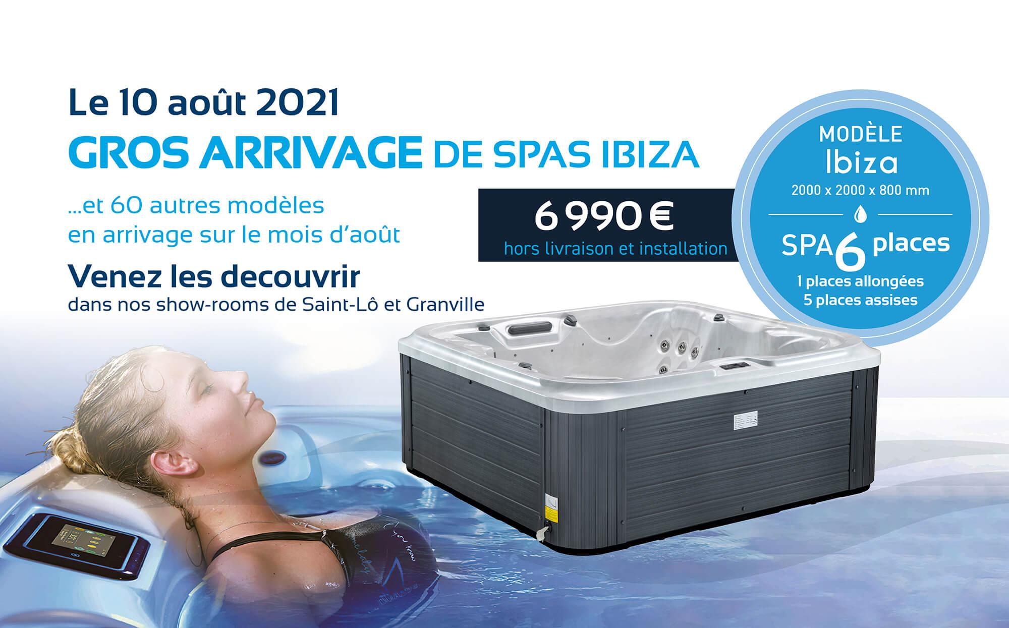arrivage de spa en aout 2021-Granville-Saint Lo